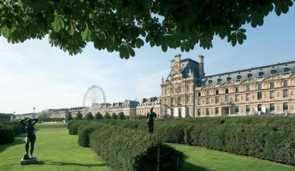 le Jardin de Tuileries tout près de l'Hôtel du Lion d'or