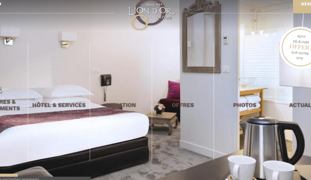 Lion D'Or Louvre Hotel & Residence s'offre un nouveau site