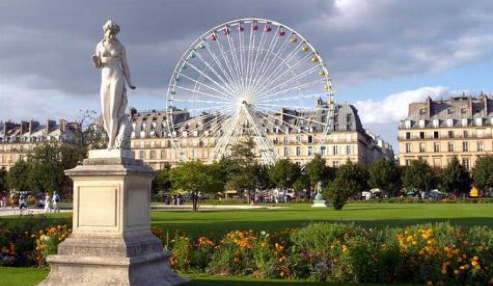 Jardins des Tuillerie et sa Grande Roue tout près de l'Hotel du Lion D'Or Louvre